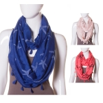JS955 SEA STAR PATTERN INFINITY SCARF