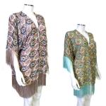 JV0003 Multi Pattern Tassel Kimono Poncho
