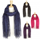 KA217 Floral Lace Long Scarf