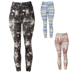 KA227 Galaxy/Paiseley Artistic/Funky Leggings