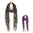 KA250 Mardi Gras Mask Long Scarf