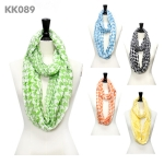 KK089 Hounds-tooth Infinity Scarf