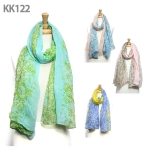 KK122 Patterned Long Scarf