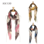 KK130 MULTI PAINTED LONG SCARF