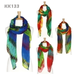 KK133 Long Colorful Scarf