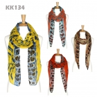 KK134 Animal Print Long Scarf