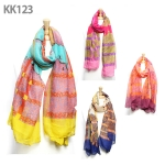 KK123 Patterned Long Scarf