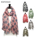 kSF2060 Big Polka Dot Print Scarf (added 2 color)