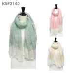 KSF2140 STRIPE COTTON SCARF