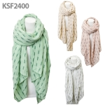 KSF2400 OVERSIZED KIT SCARF WITH GRAY DASH DETAILS