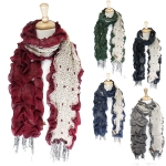 LOF027 Ruffled & Fringed Scarf