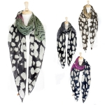 LOF030 Mixed Animal pattern Scarf