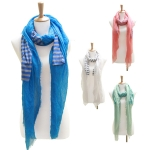 LOF081 Solid With Stripe Scarf