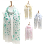 LOF086 Extra Long Polka Dot Scarf