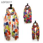 LOF3017 Big Dot Print Scarf