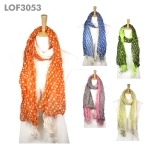 LOF3053 Polka Dot 2 Layers Scarf