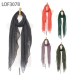 LOF3078 Starry Scarf With Hotfix