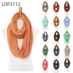 LOF3112 Solid Infinity Scarf