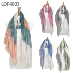 LOF4003 Multi Stripe Pattern Scarf