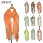 LOF4007 Lurex Stripe Block Scarf