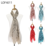 LOF4011 Big Owl Cotton Scarf