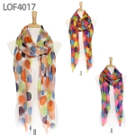 LOF4017 Colorful Dot Scarf