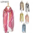 LOF4055 Big/Small Stripe Scarf