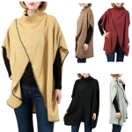 LOF525 Unique Front Diagonal Cut Poncho