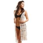 LOF732 Crochet Long Vest Cover Up