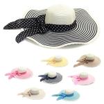 LOH003 Wide Floppy Stripe Summer Hat