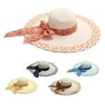 LOH005 Wide Floppy Waterdrop Tie Summer Hat