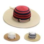 LOH006 Mid Size Stripe Summer Hat