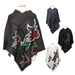 MH106 Flower Pattern Poncho