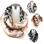 PCE3867 Big Animal Print W/border infinity