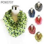 PCW3737 Geometric Chevron Pattern Scarf