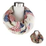 PCY4142 American Flag Print Infinity