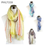 PHL7328 Multi Stripe Scarf