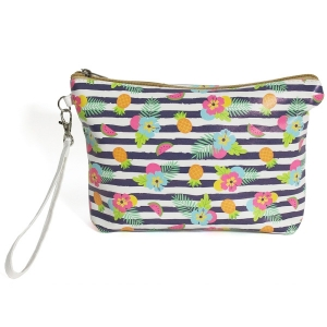 CB8235 Pineapple Stripe Beach Pouch Bag