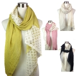 PSY4112 Mid and end lace w/solid scarf