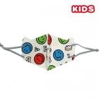 S-44 Smile Emoji Print Kids Mask (DZ)