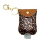 SA003 Leopard Pattern Travel Size Sanitizer Holder W/ Key Chain