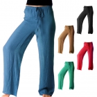 SL3913 Solid Beach Pants with String