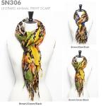 SN306 Leopard Animal Print Scarf