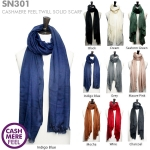 SN301 Cashmere Feel Twill Solid Scarf