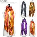 SN304 Multicolored Print Scarf