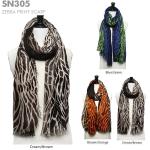 SN305 Zebra Print Scarf