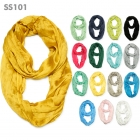 SS101 Solid Scrunch Infinity Scarf