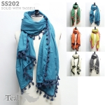 SS202 Solid with Tassels Scarf (Value Pack Sale)