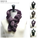 SS215 Zebra print faux fur scarf (Short)