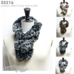 SS216 Animal Print Faux Fur Scarf (Value Pack Sale)